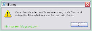 iPhone DFU Mode Confirmation Dialog