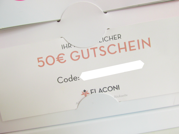 Flaconi Probenbox 50 Euro Gutschein Gewinnspiel