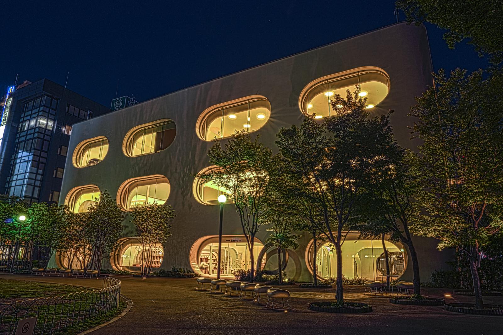 ひと・まち・情報 創造館武蔵野プレイス(図書館)のHDR写真