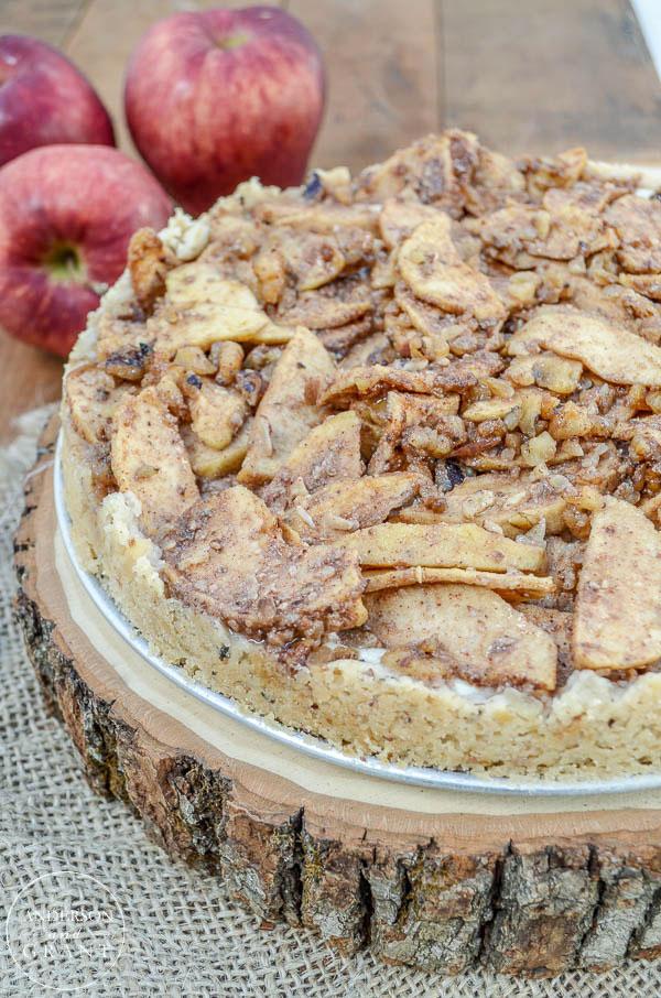 Apple Danish Cheesecake on a Walnut Almond Crust |  www.andersonandgrant.com