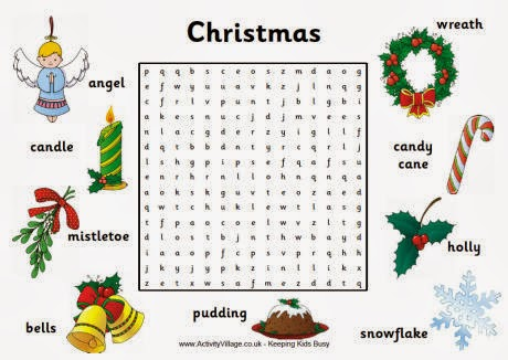 word search for kids 4 christmas word search for Hard Christmas Word ...