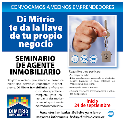 Inmobiliaria Di Mitrio lanza en Septiembre el 11º Seminario de Agente Inmobiliario