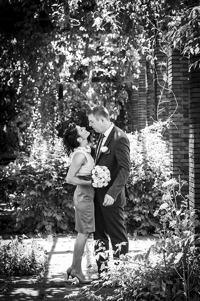 Fotos vom Brautpaar im Nordpark