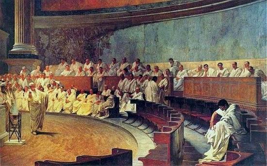 Ciceron desenmascara a Catilina, obra de Cesare Maccari
