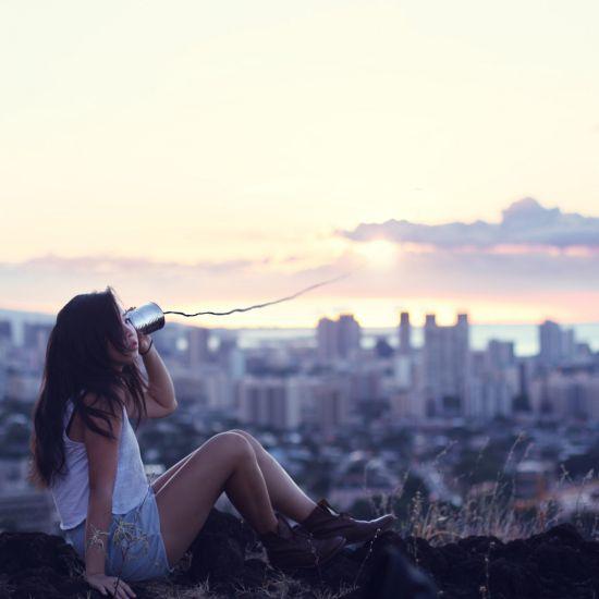 Kylie Woon fotografia photoshop surreal solidão melancolia Uma longa distância