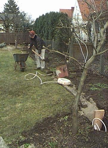 gräva ner kabel i gräsmattan