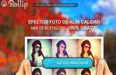 Rollip: editor de fotos online que permite aplicar efectos y filtros a las imágenes