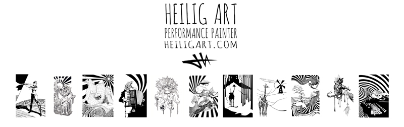 Heilig Art: Performance Painter