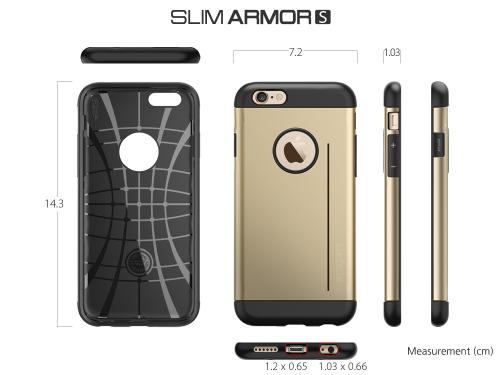 Case Iphone 6 Slim armor - Dimensões.