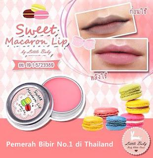 Pemerah Bibir Sweet Macaron Lips Original