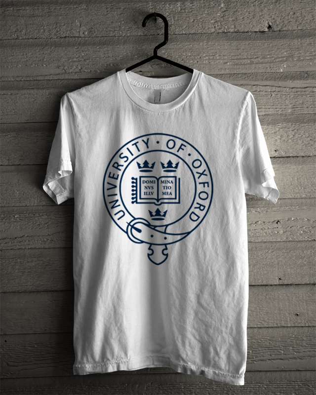 Kaos Distro Oxford University Putih