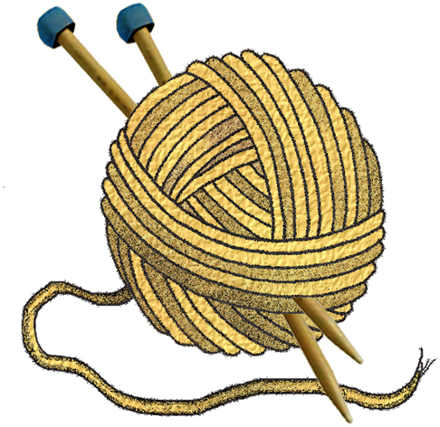 : KNITTING WOOL - Set A20 - Red Gold Navy - A collection of clip art ...