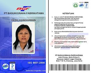 Kartu Karyawan ID Card Member Card