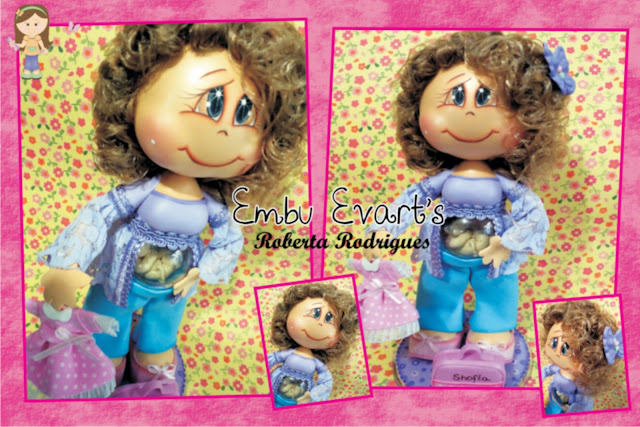 boneca personalizada para chá de bebê