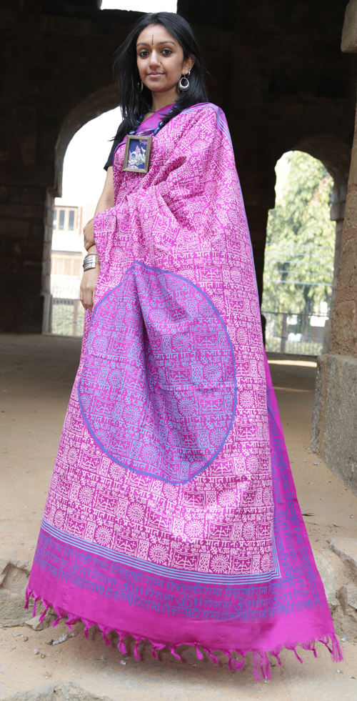 Saree, Design, Block Printing, textiles, wooden blocks, block print textiles,