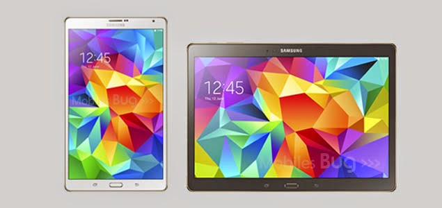 Samsung Galaxy Tab S 8.4 and 10.5 android tablets