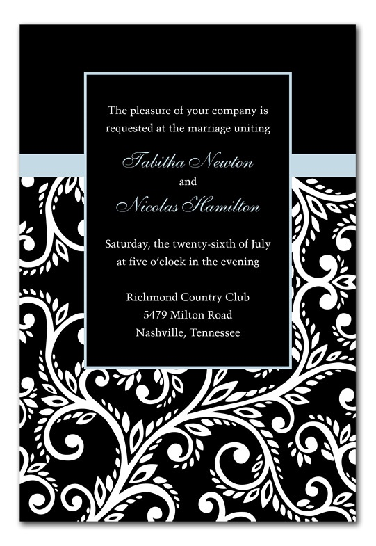 Black and white invitation cards yeniscale recent posts stopboris Image collections