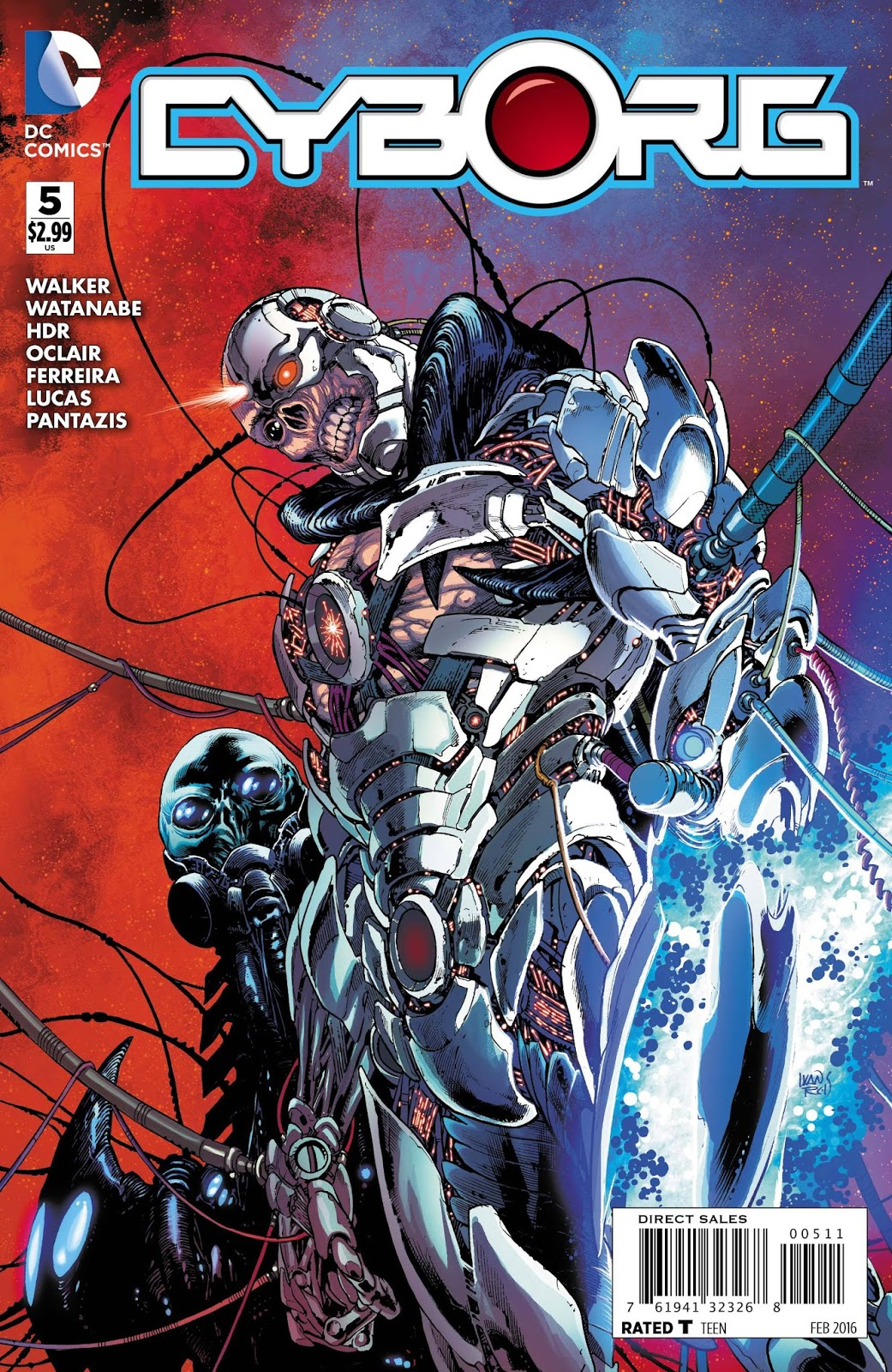 Art By Ivan Reis Felipe Watanabe Daniel HDR Albert Oclair Julio Ferreira Cover And Joe Prado Cyborg Has The Technology Alien