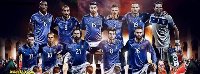 Ảnh bìa Facebook bóng đá - Cover FB Football timeline, đội bóng Italia áo thiên thanh