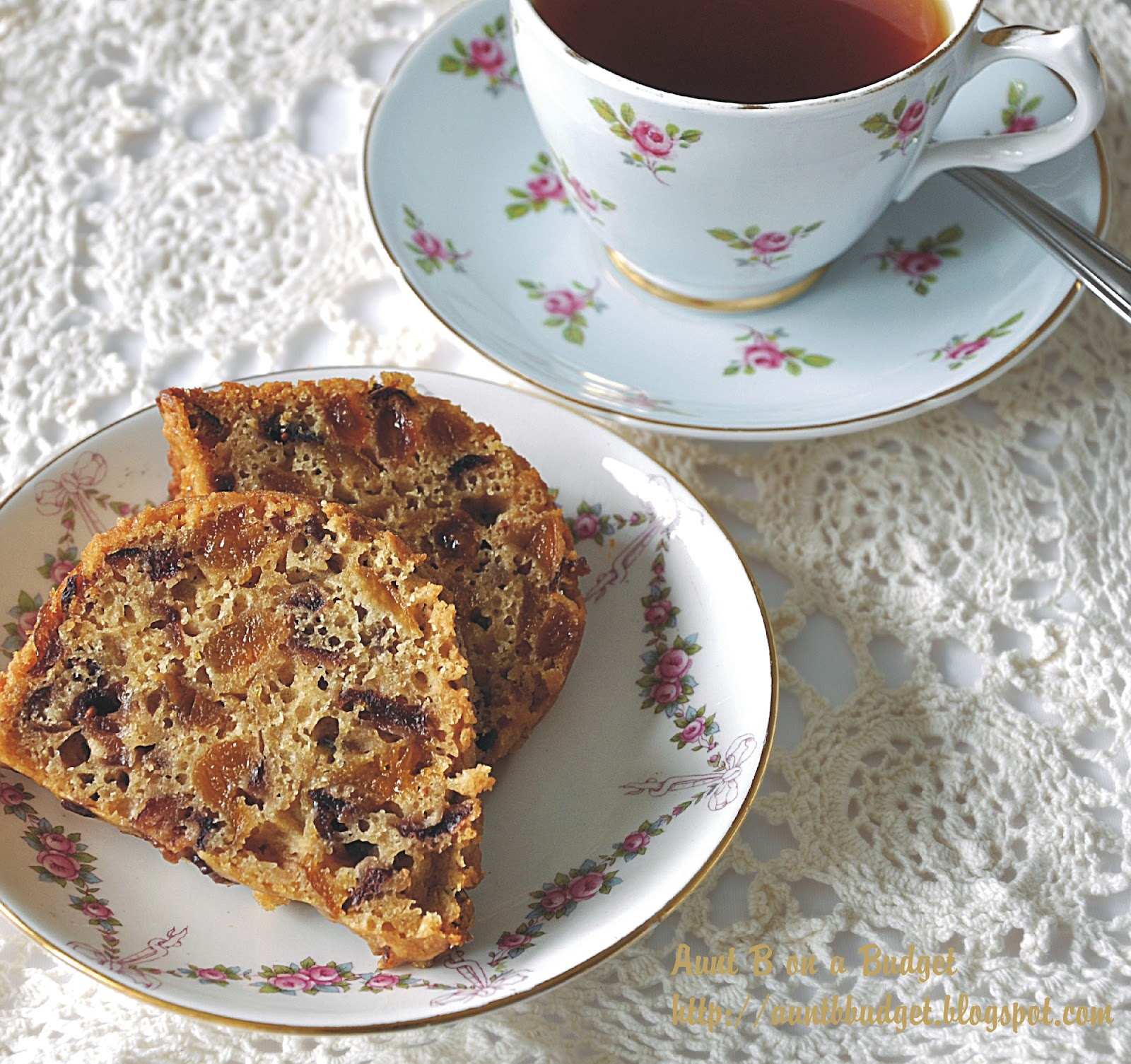 Aunt B on a Budget: Welsh Tea Cake With Dried Cranberries & Apricots