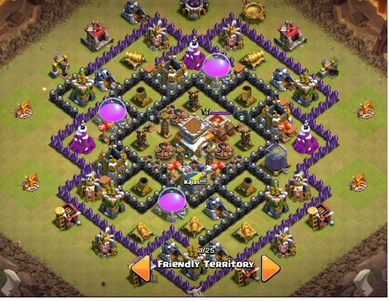 War Base Clash of Clans Th 8 Anti Naga dan Hog Rider