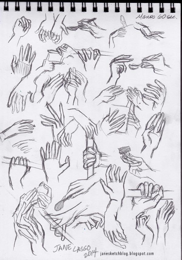 Dibujo gestual a lápiz