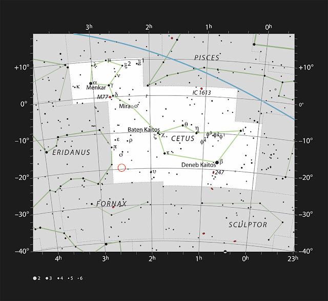 planeta igual a Júpiter- constelação da Baleia