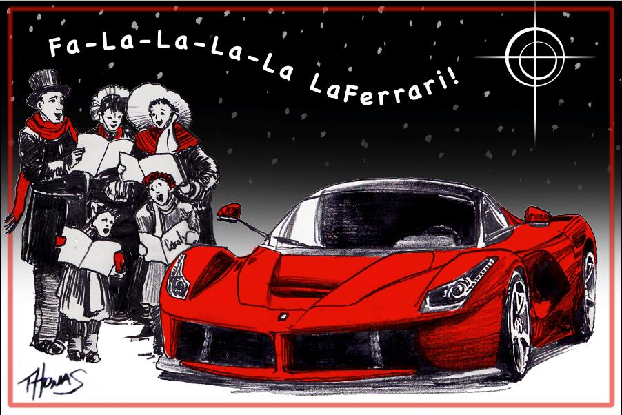 Ferrari art of grant thomas christmas card 2013 for Ferrari christmas