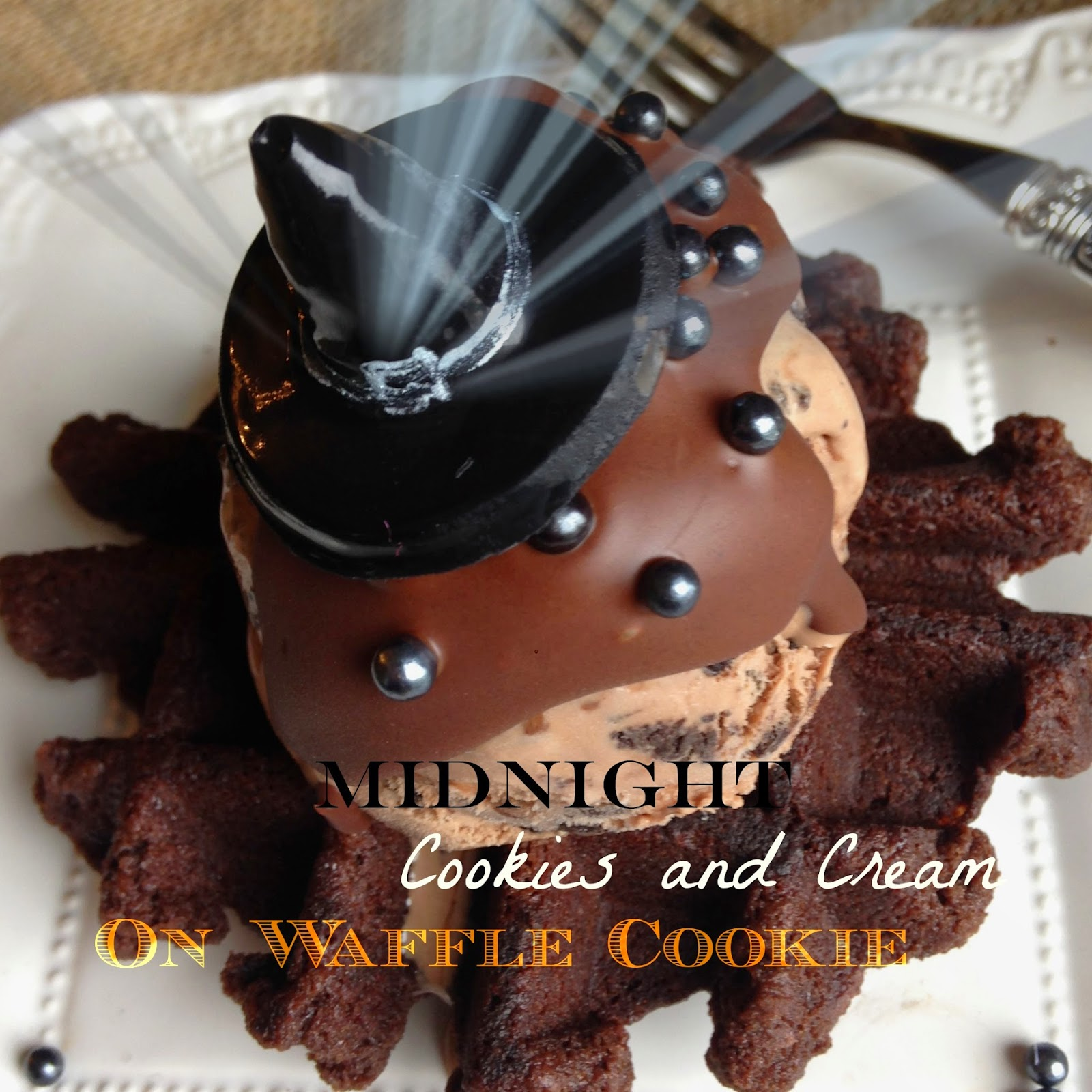 Midnight Cookies and Cream with Cookie Waffles - Purple Chocolat Home