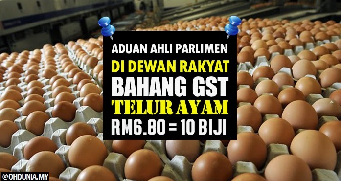 Bahang GST, KPDNKK terkejut, harga telur ayam naik RM6.80 10 biji