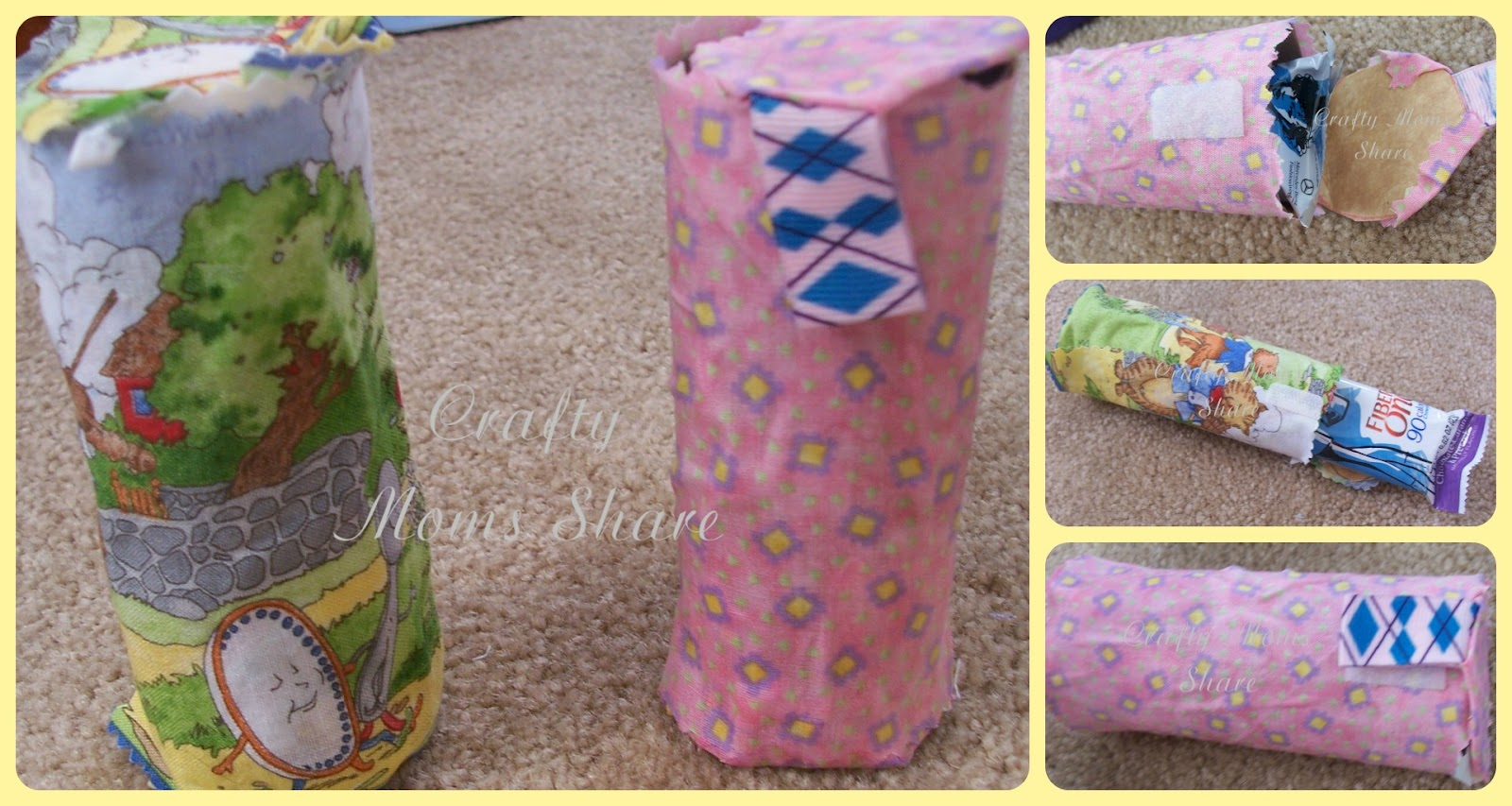 Crafty moms share fiber one snackcessory challenge for Toilet paper roll challenge