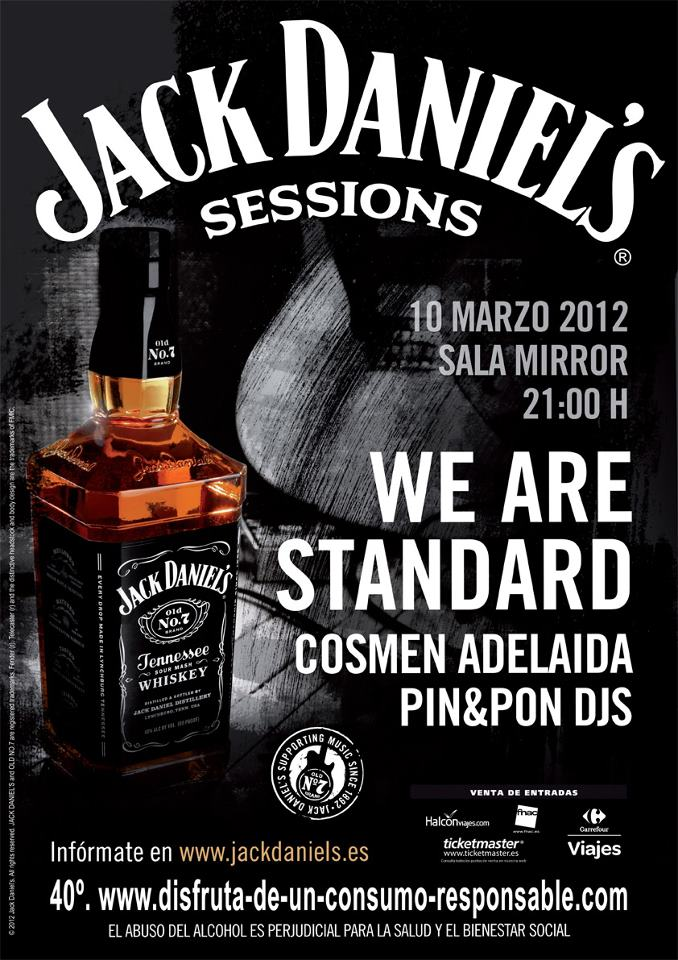 Las Jack Daniel's Sessions llegan a Valencia este sábado con We Are Standard, Cosmen Adelaida y Pin&Pon djs