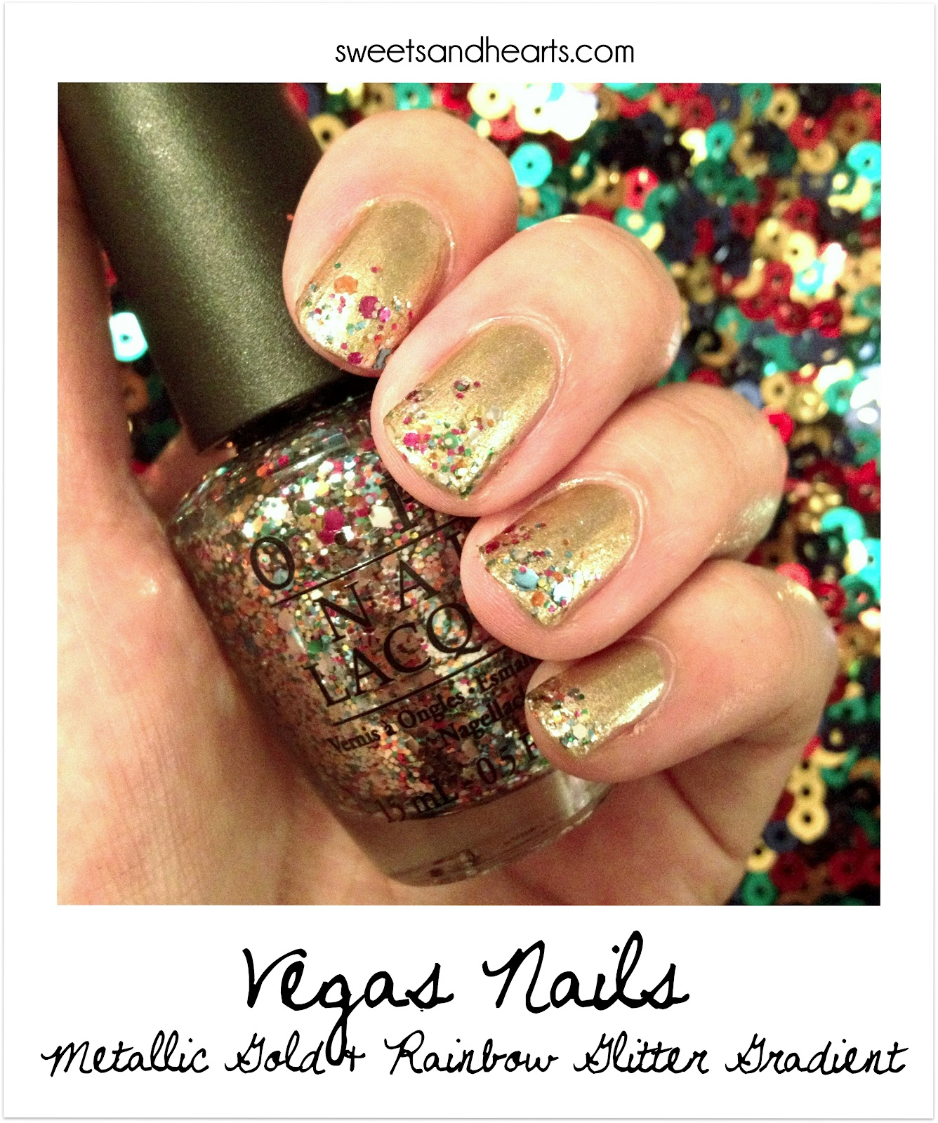 Metallic Gold With Rainbow