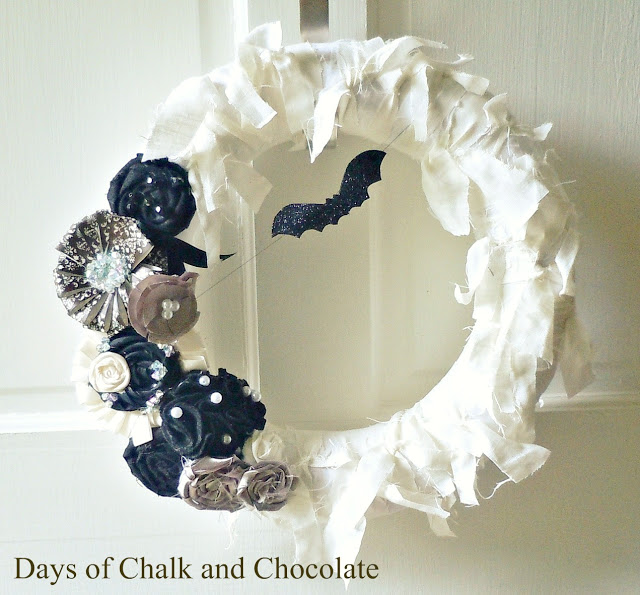Halloween Glam Wreath by Days of Chalk and Chocolate