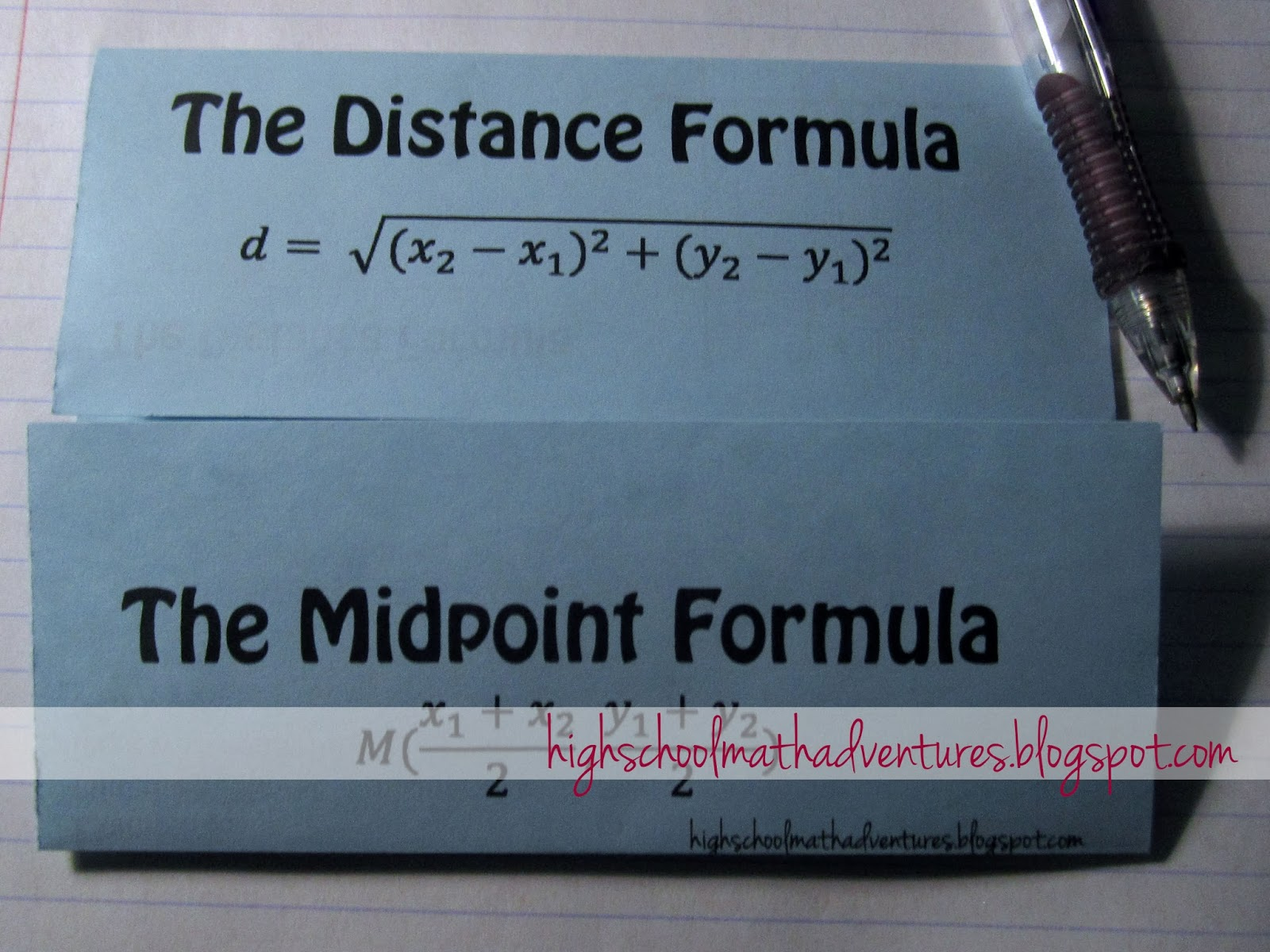 High School Math Adventures with Mrs B Distance and Midpoint – Math Formulas Worksheet