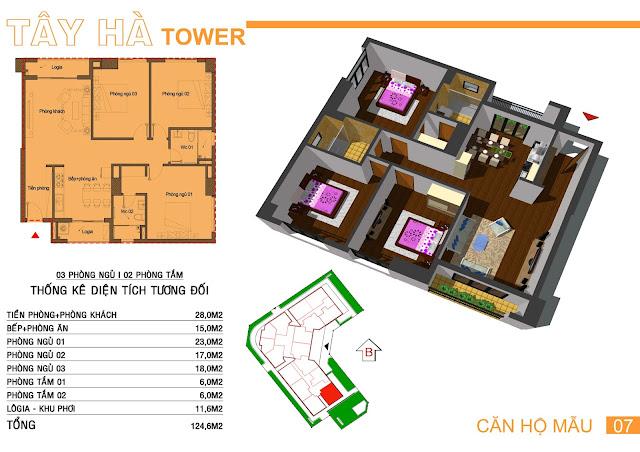 Căn số 7 chung cư Tây Hà Tower