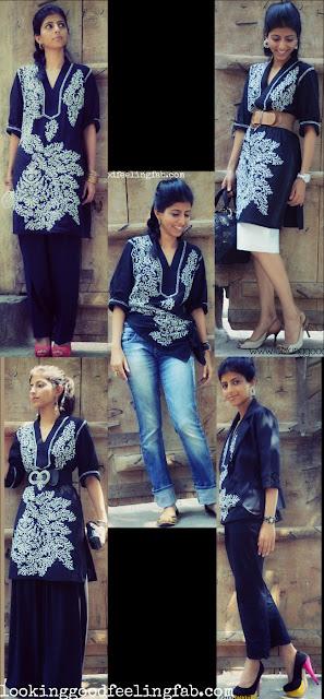 how to wear a kurta