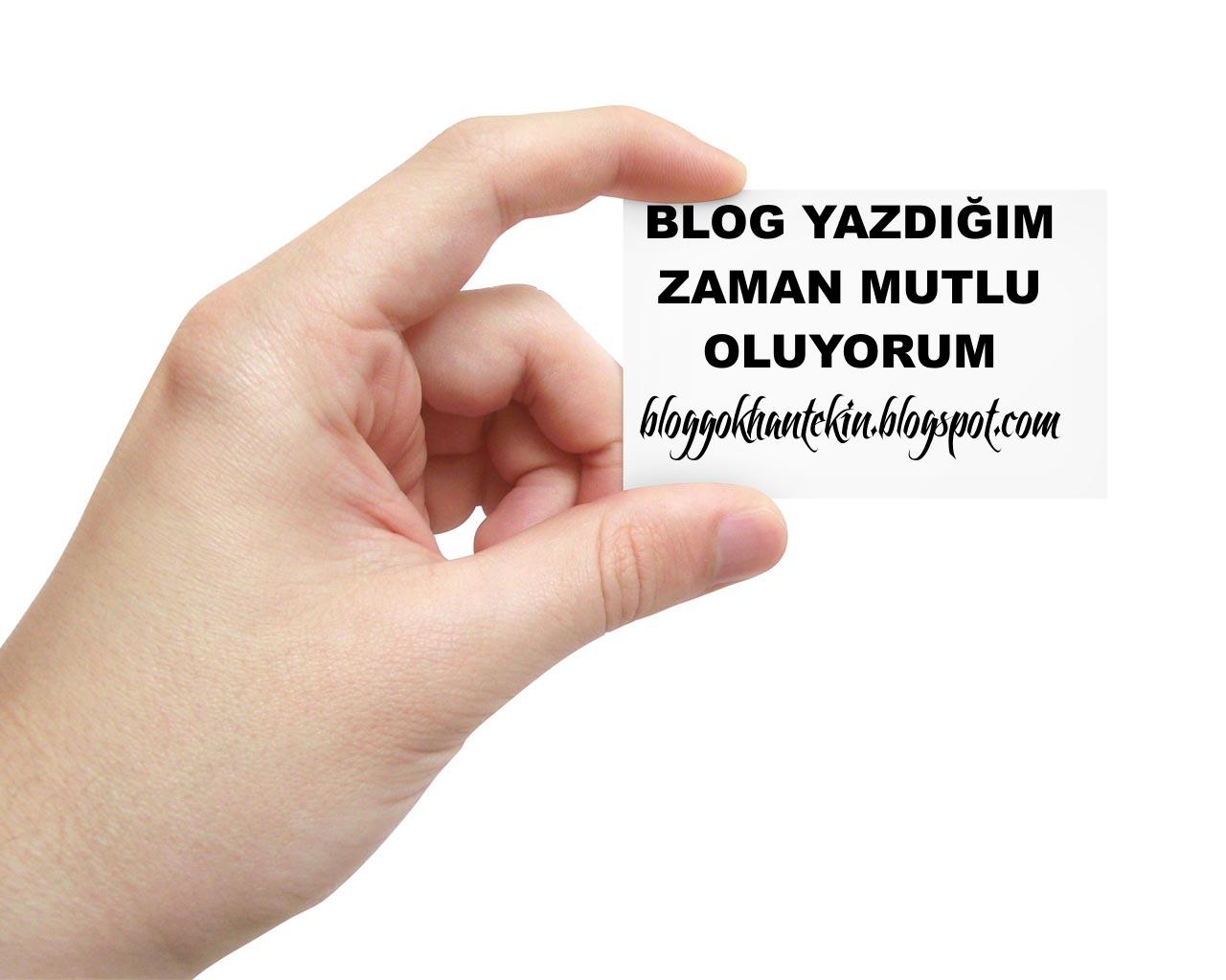 Blog Yazarak Mutlu Oluyorum