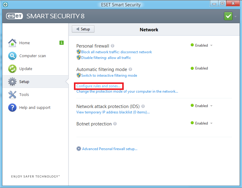 Cara Memblok Program Aplikasi Dengan ESET Smart Security