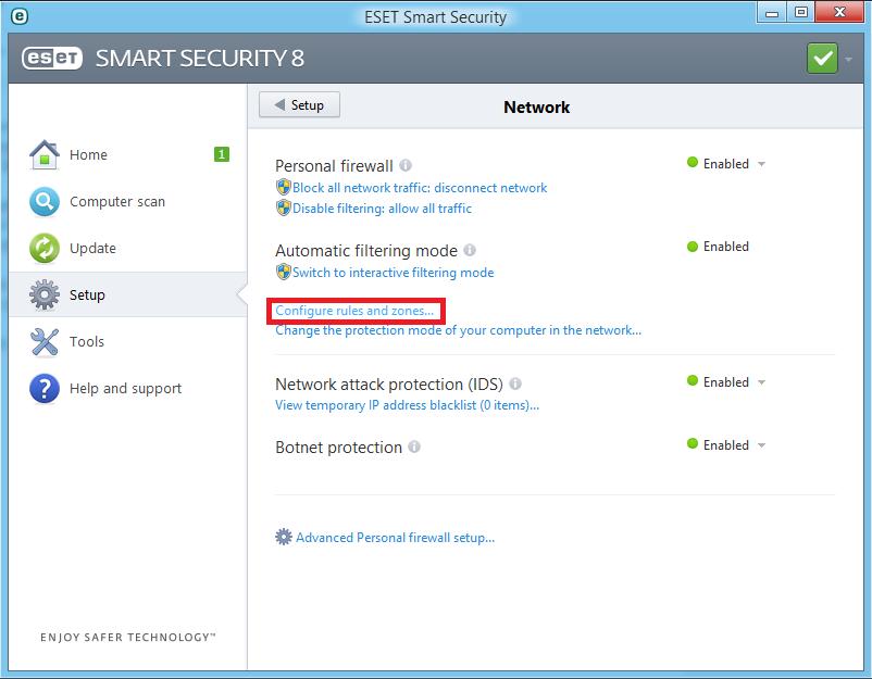 Cara Memblok Program Aplikasi Dengan ESET Smart Security