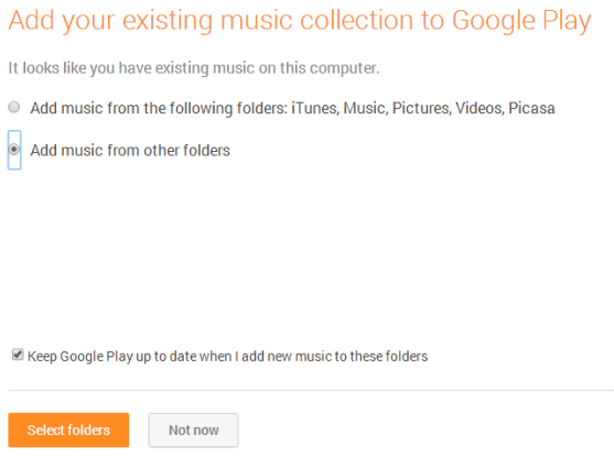 how to find music files on google