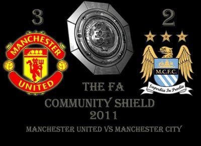 Manchester United vs Manchester City Community Shield 2011