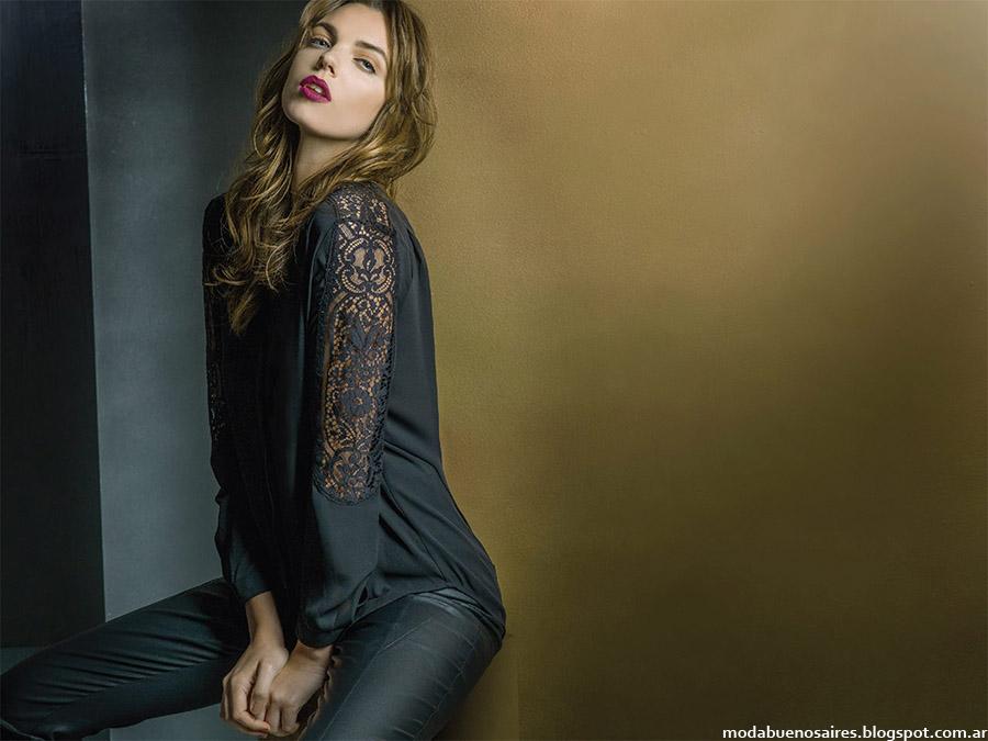 Blusas otoño invierno 2015 moda mujer Rafael Garofalo.