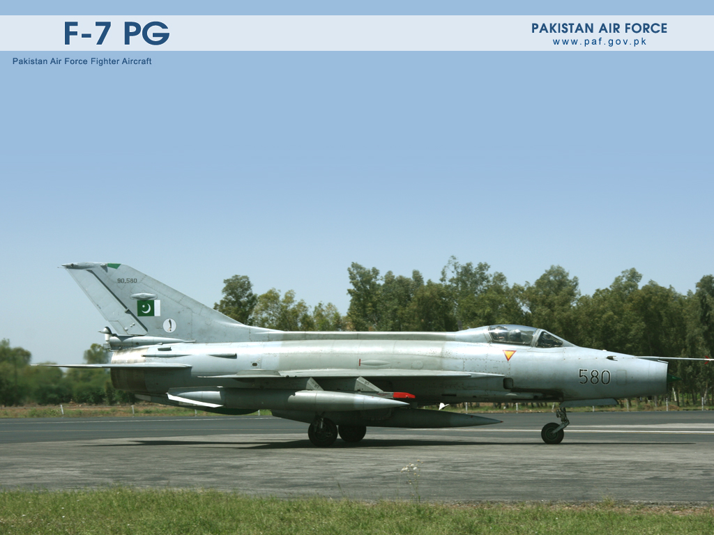 Pakistan Air Force F7 Aircraft Ready To Takeoff  Wallpaper