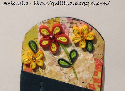 quilled flower bookmark quilling filigree filigrana