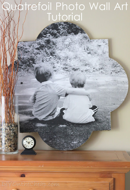 Quatrefoil Photo Wall Art Tutorial