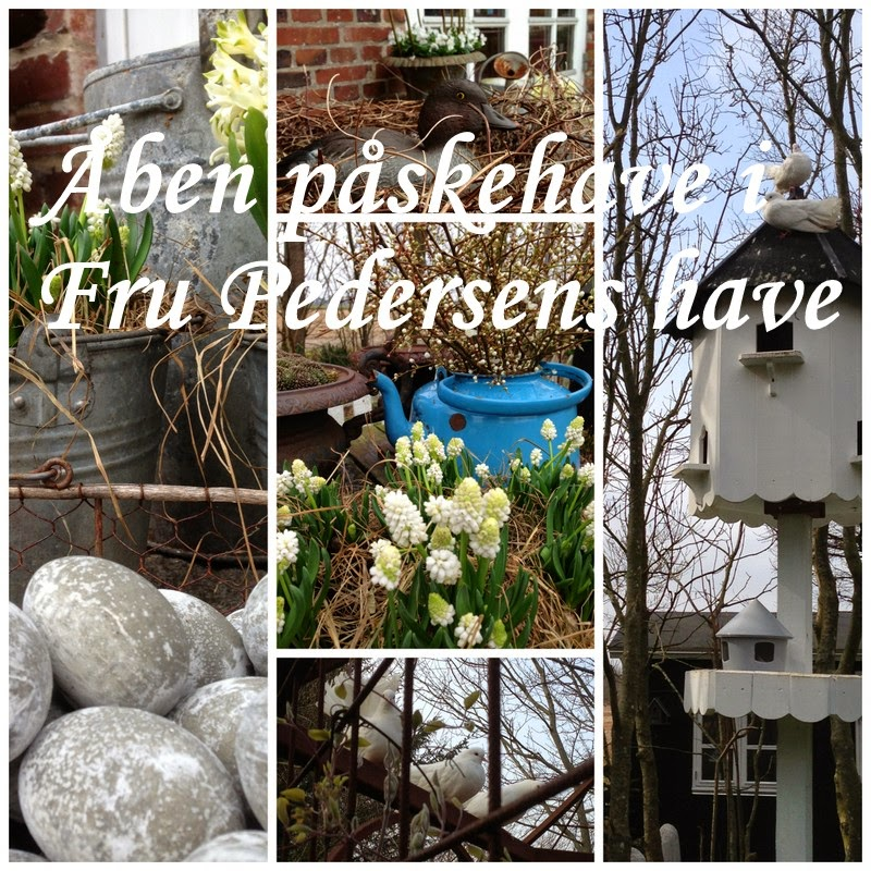 Fru pedersens have: Åben påskehave.