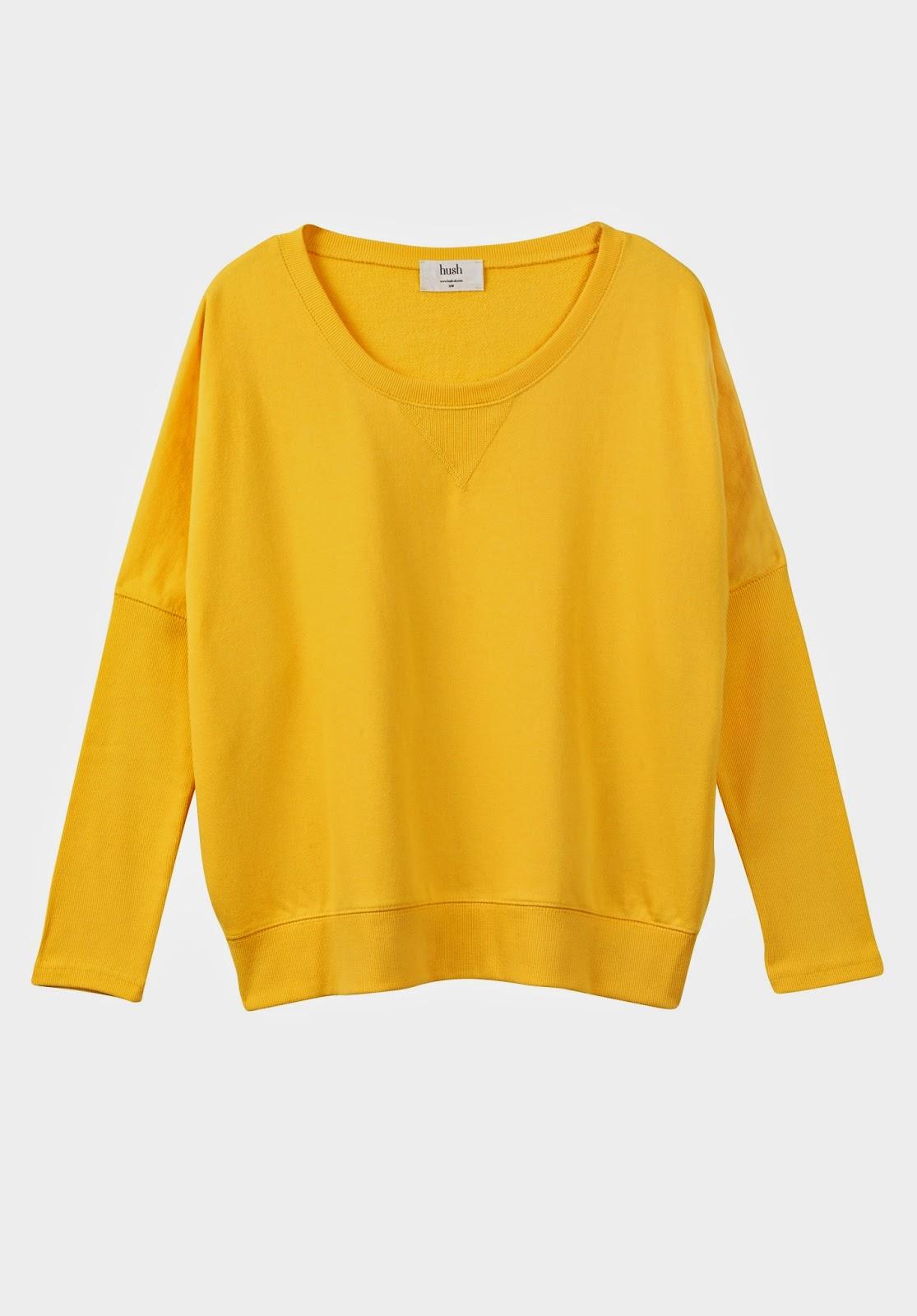 hush yellow sweater