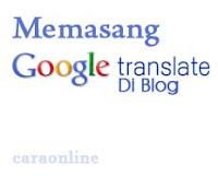 Cara membuat Translate blog rekomendasi Google
