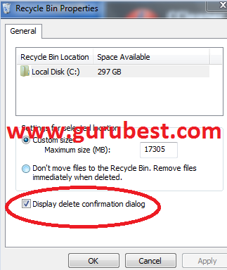 How To Enable Confirm To Delete Option In Windows 8 Operating System